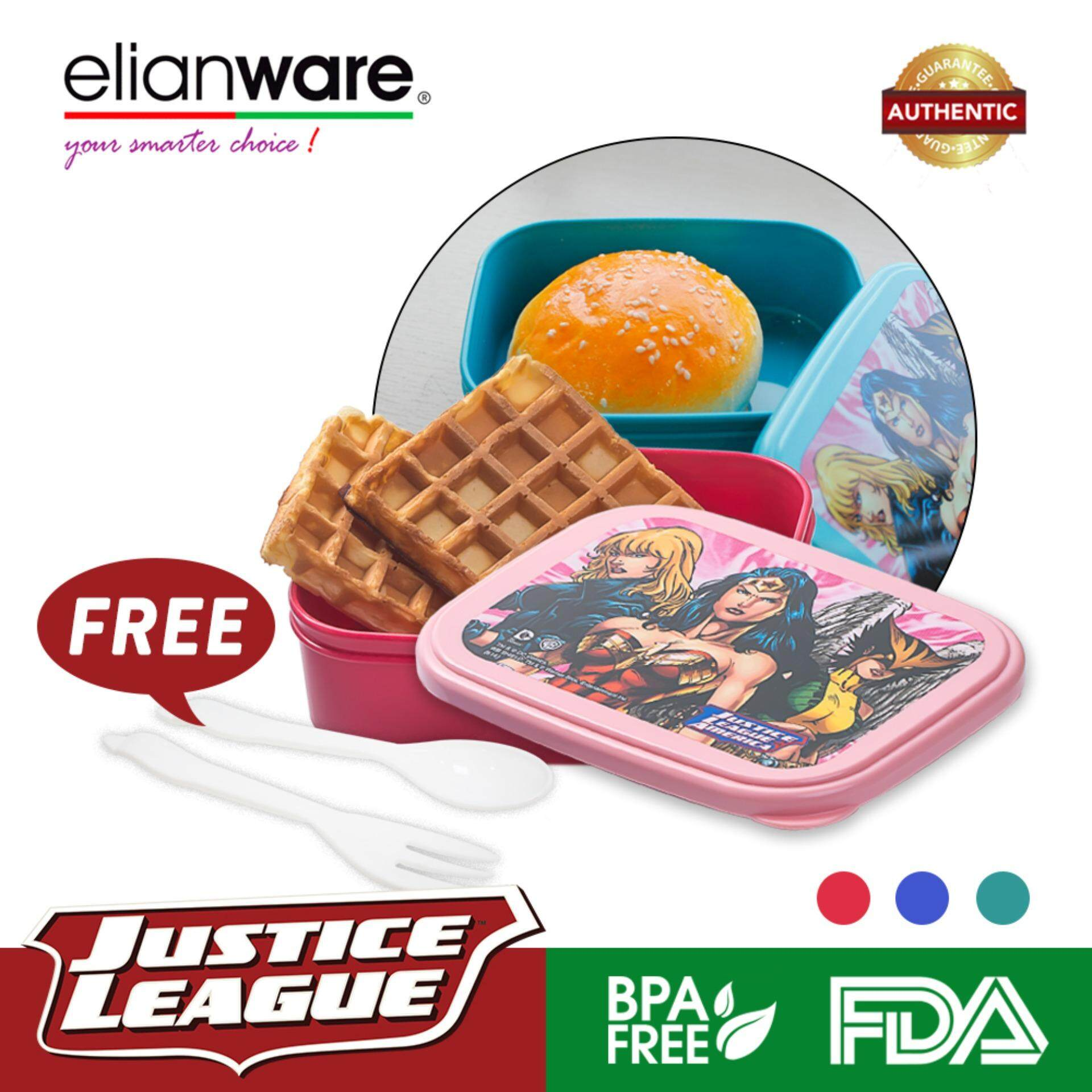 Elianware DC Justice League Mini Superheroes Food Container (550ml)