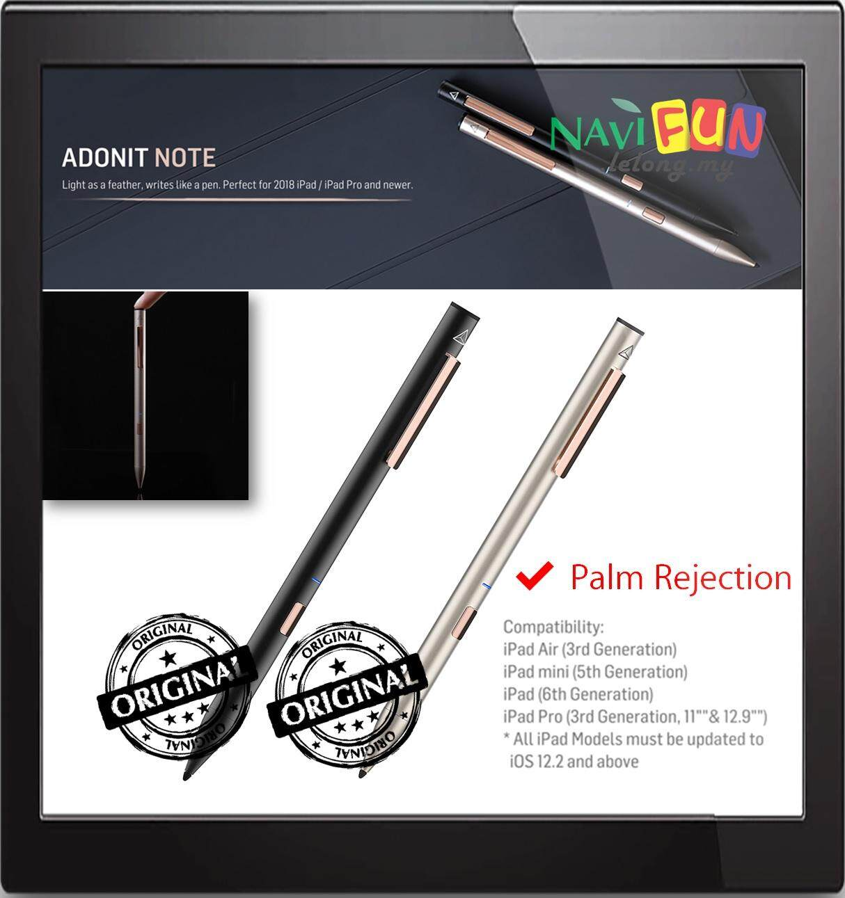 Adonit (ORI) Note Natural Palm Rejection Stylus iPad Pro (3rd Gen) iPad (6th Gen) iPad Air (3rd Gen) iPad Mini (5th Gen)