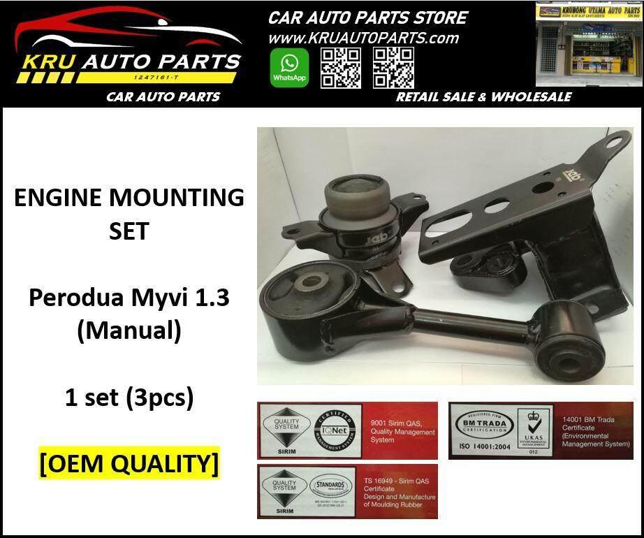 Engine Mounting Complete Set [OEM Quality] - Perodua Myvi 1.3 (MT)