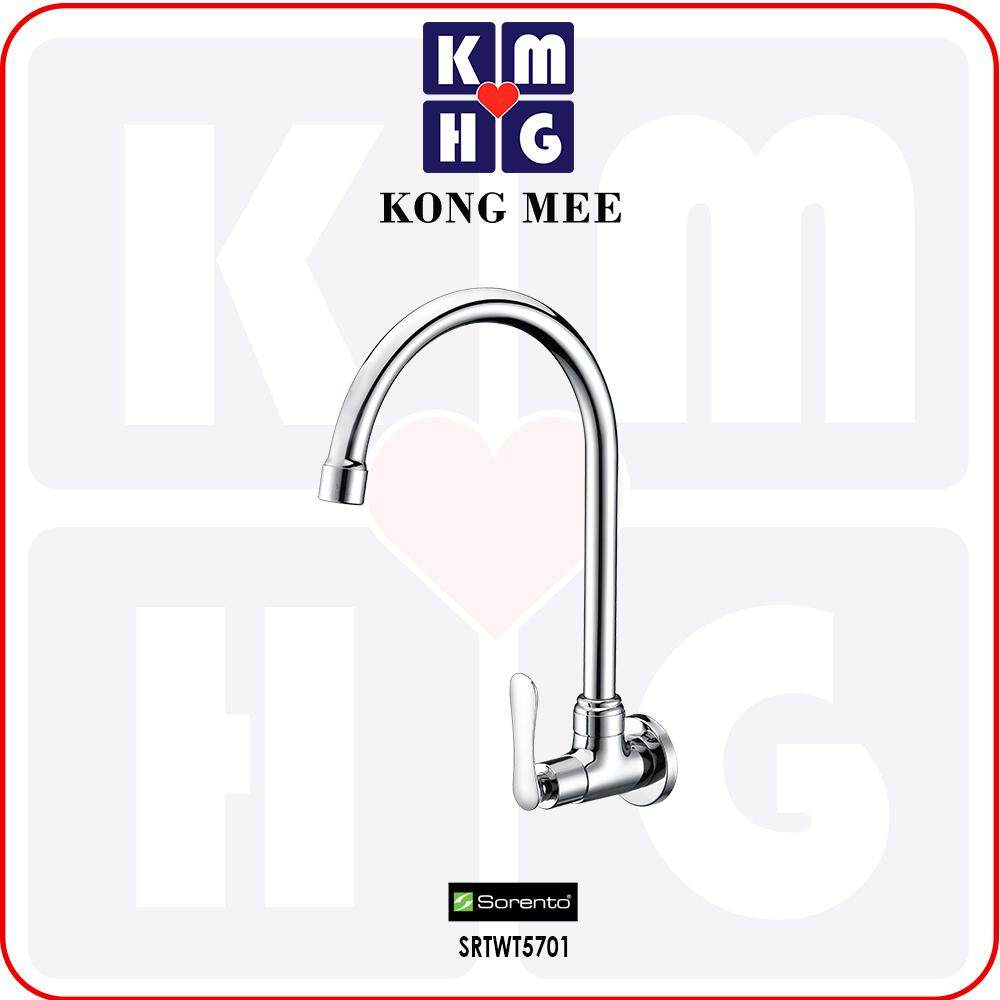 Sorento Italy - Eggshell 5700 Series Wall-Mounted Sink Tap (Stick To Wall Basin Faucet) (SRTWT5701) Kitchen Top Counter Restaurant Home Wash Dishes Water Soap Faucet Clean Pipe Food Cook Premium Modern Luxury High Quality Long Lasting