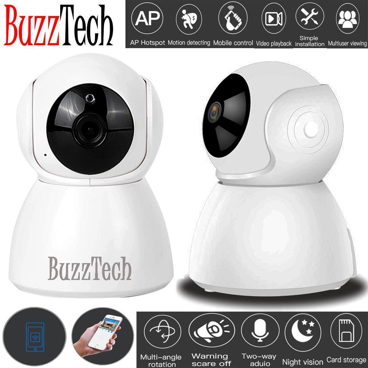 BuzzTech Alien Design V380 Smart Wifi Camera IP Security Camera Cam 720P HD Wifi CCTV Night Vision Baby Monitor Wireless IP infrared monitoring