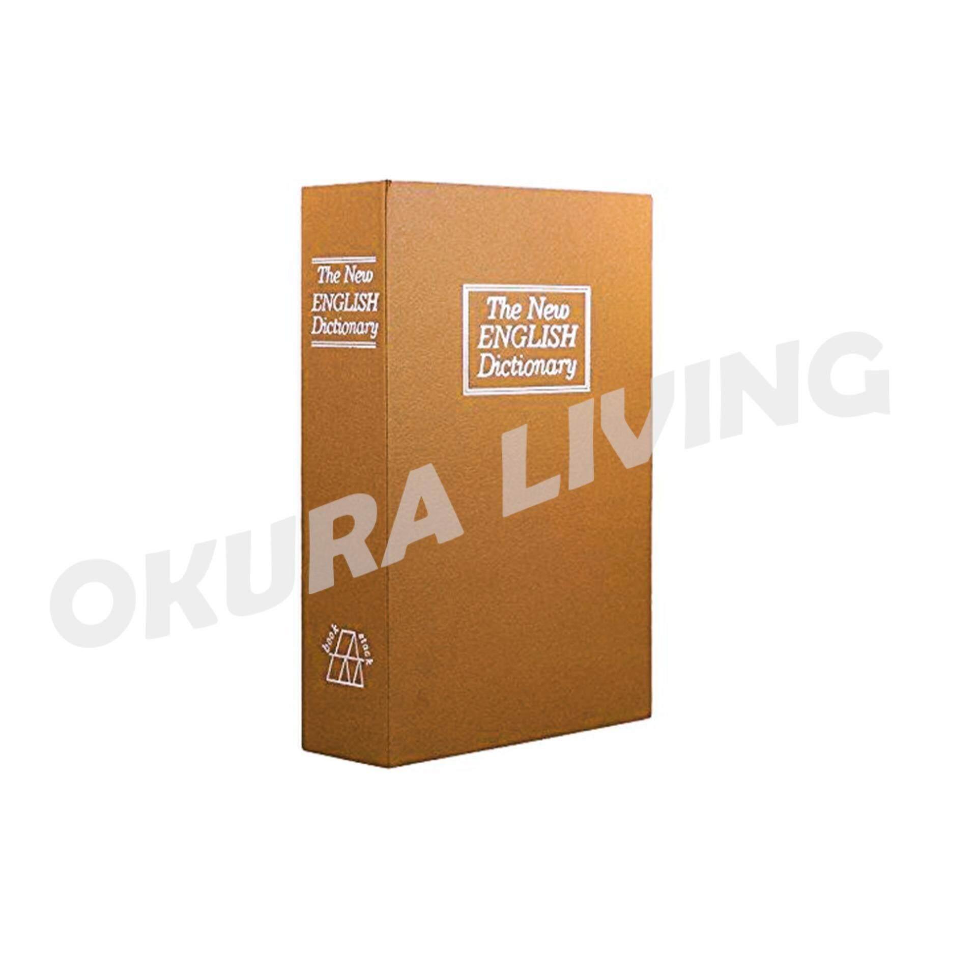 OKURA Dictionary Diversion Secret Hidden Book Safe Metal Box with Key Lock 8