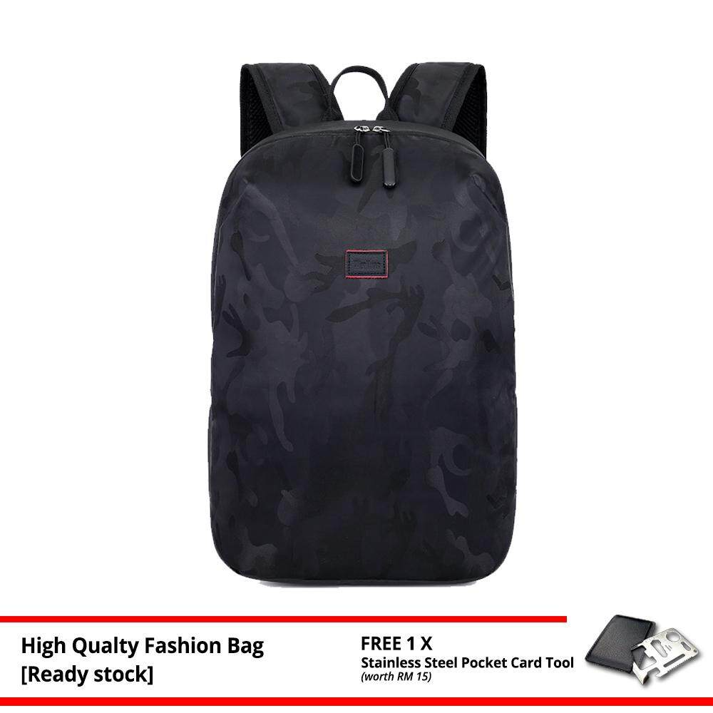 MV Bag Canvas Camo Backpack New Fashion Laptop Beg Light Weight Travel Casual Trendy Outfit MI4361