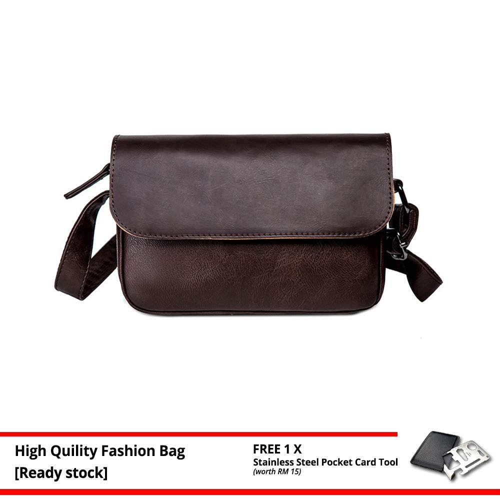 MV Bag Trendy Retro Men PU Leather Cross Body Beg Business Messenger Sling Bags MI4833