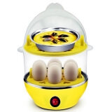 Multi-Function 2-Layer Electric Food and Egg Cooker/ Boilers & Steamer (Yellow)