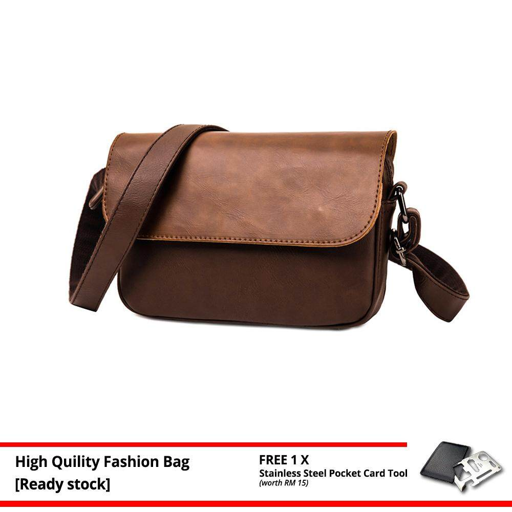 MV Bag Trendy Retro Men PU Leather Cross Body Beg Business Messenger Sling Bags MI4832