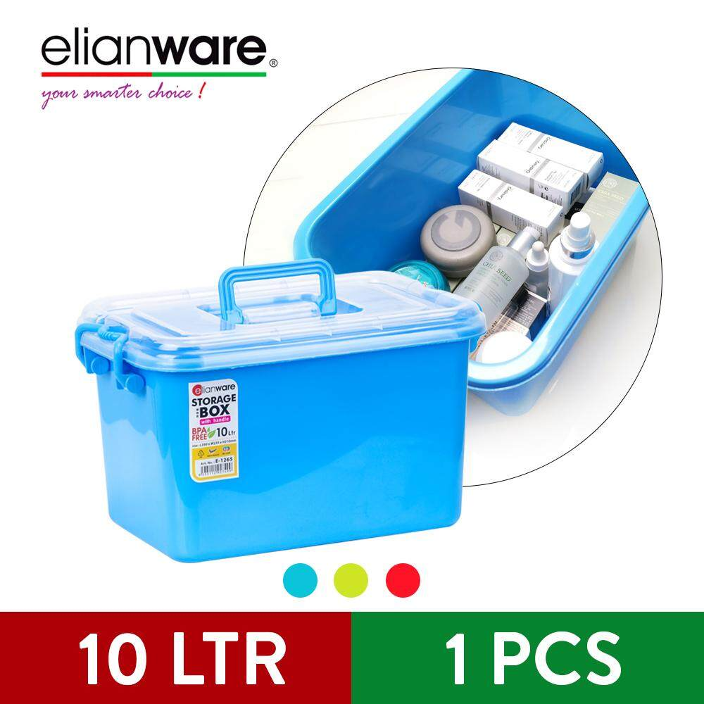 Elianware Multipurpose Colourful Storage Box Organizer with Handle Wardrobe Organizer (3 Pcs Set)