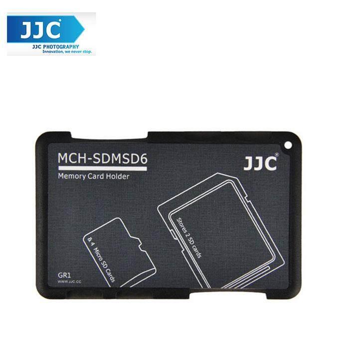 JJC MCH-SDMSD6GR Pocket Memory Card Holders fits 2 SD Cards + 4 Micro SD Cards
