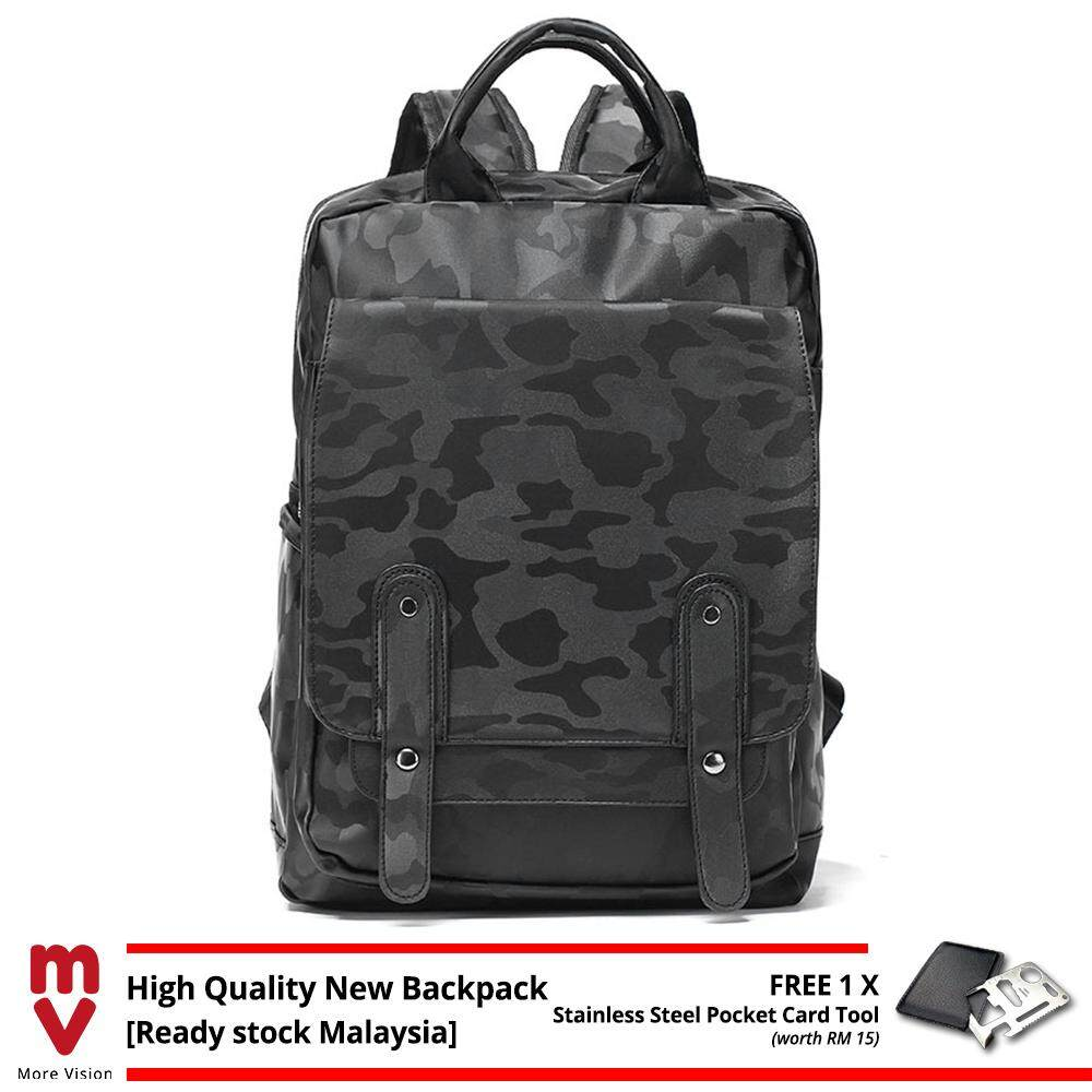 MV Bag New Camo Backpack MEN Black Laptop Beg Multiple Compartment High Quality Travel Casual Study MI5381