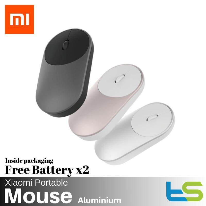 Original Xiaomi Mi Portable Mouse Bluetooth 2.4G Wireless Aluminium Silver / Gold / Grey