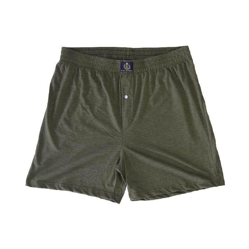 ROYAL EXTREMA TALL & BIG SIZE KNIT LOOSE BOXER (RXB19-01) OLIVE REB5003