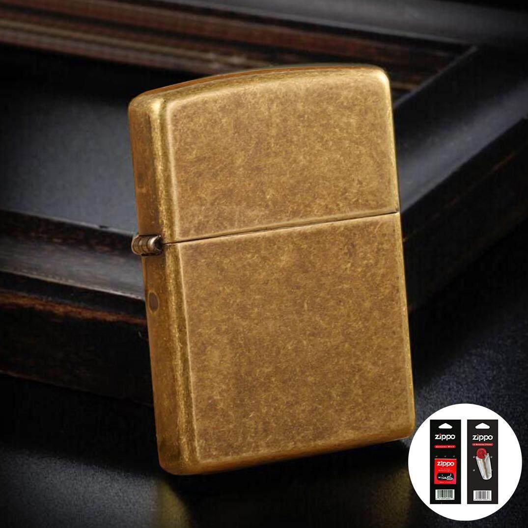 Antique Brass 201FB Zippo Lighter