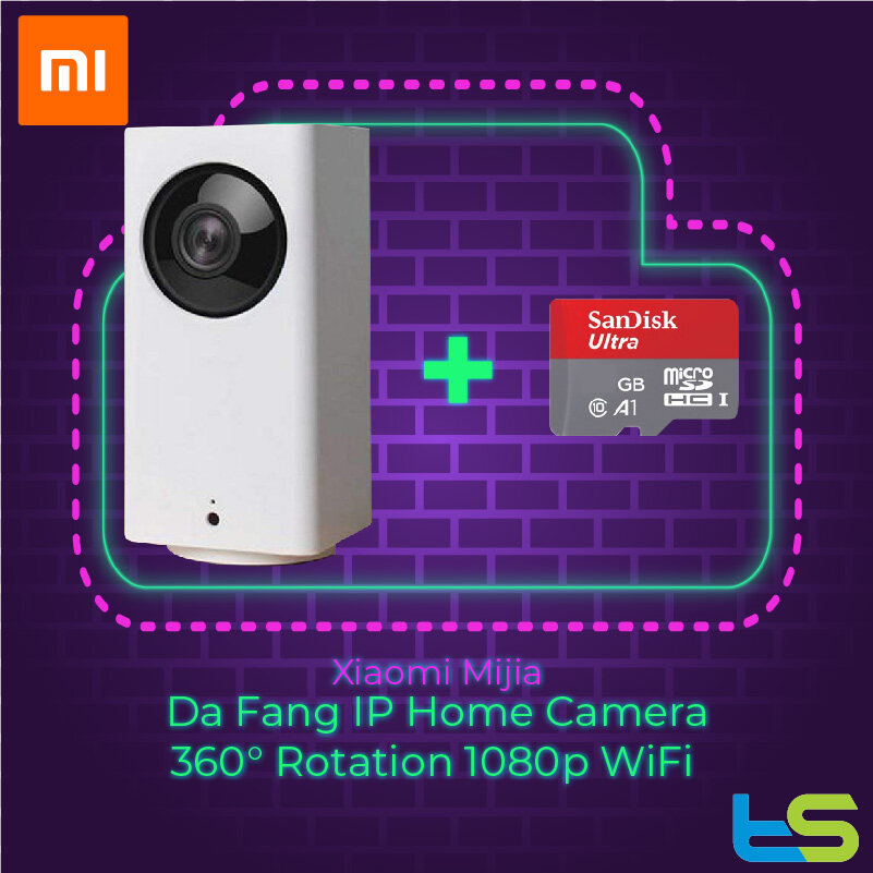 [Bundle 16GB / 32GB / 64GB] Xiaomi Mijia Da Fang IP Home Camera 360° Rotation 1080p WiFi DaFang CCTV Night Vision (PTZ Pan-Tilt-Zoom)