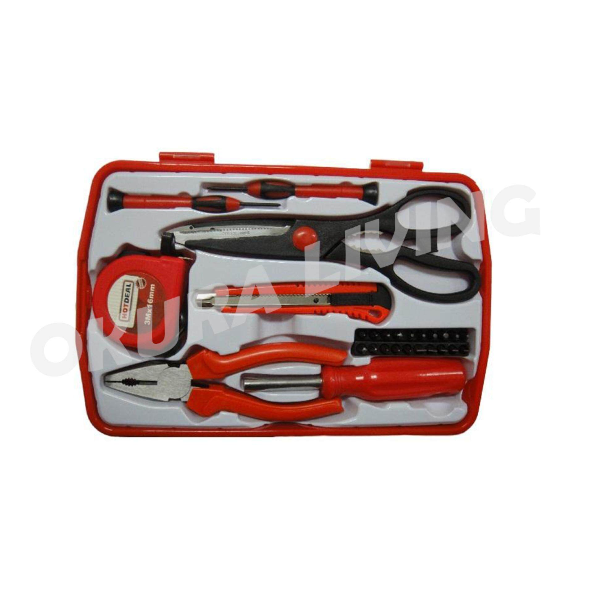 OKURA 9PCS Multi-use Home Hand Carry Tool Kit (Household DIY Tool Set) 4