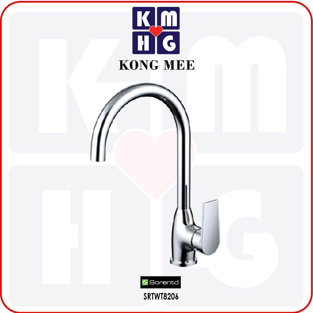 Sorento Italy - Hera 8200 Series Pillar Mounted Kitchen Mixer (Hot And Cold Tap) (SRTWT8206) Kitchen Top Counter Basin Faucet Aesthetic Modern Luxury Restaurant Home Kitchen Wash Dishes Water Soap Faucet Cleaning Pipe Eating Food Cook Chef