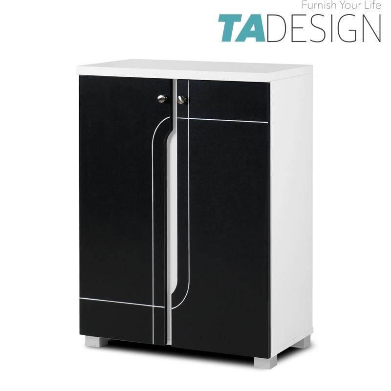 TAD NABILA 2 door shoe rack cabinet-black