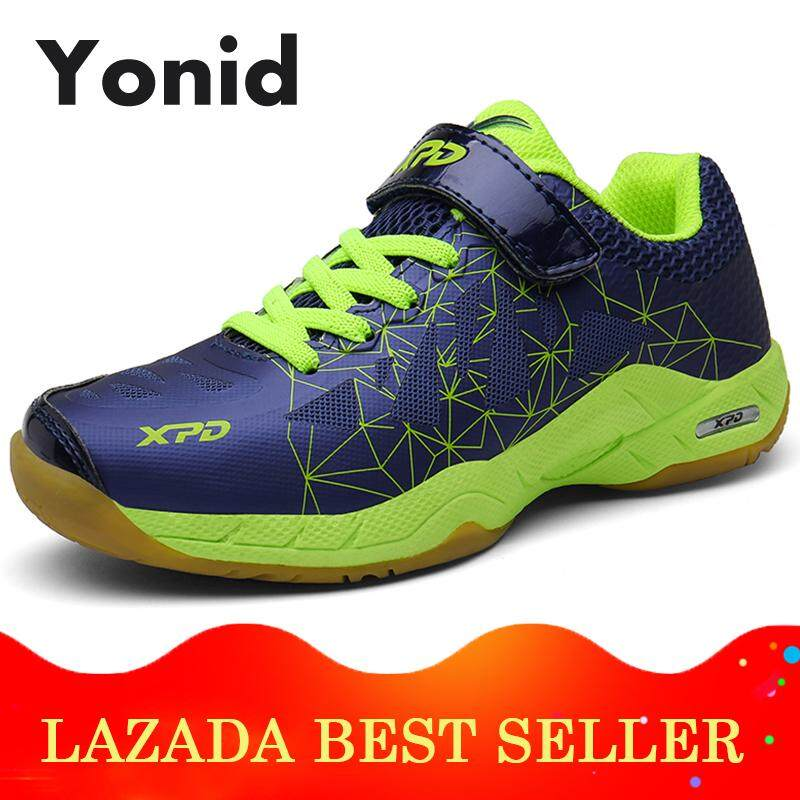 Yonid Size 32-36 Boys And Girls Badminton Shoes Kids Sport Shoes Outdoor Sneakers For Children.