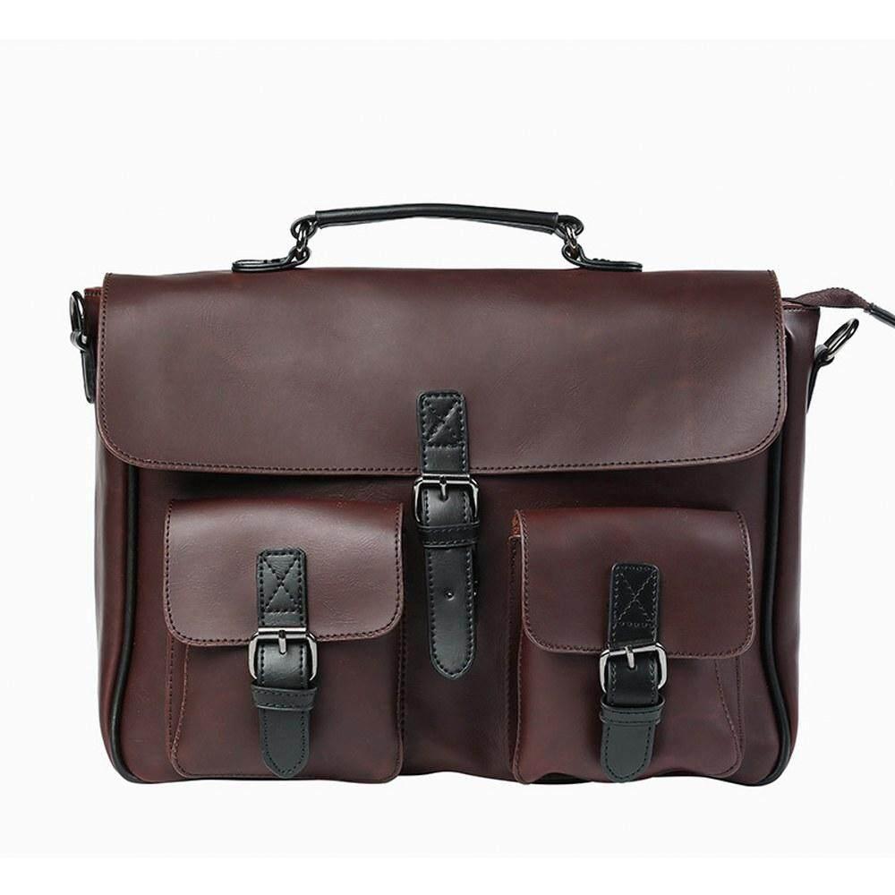 MV Bag Leather Hand Carry Messenger Beg Shoulder Fashion Sling Business Men Casual Travel 376 MI3761