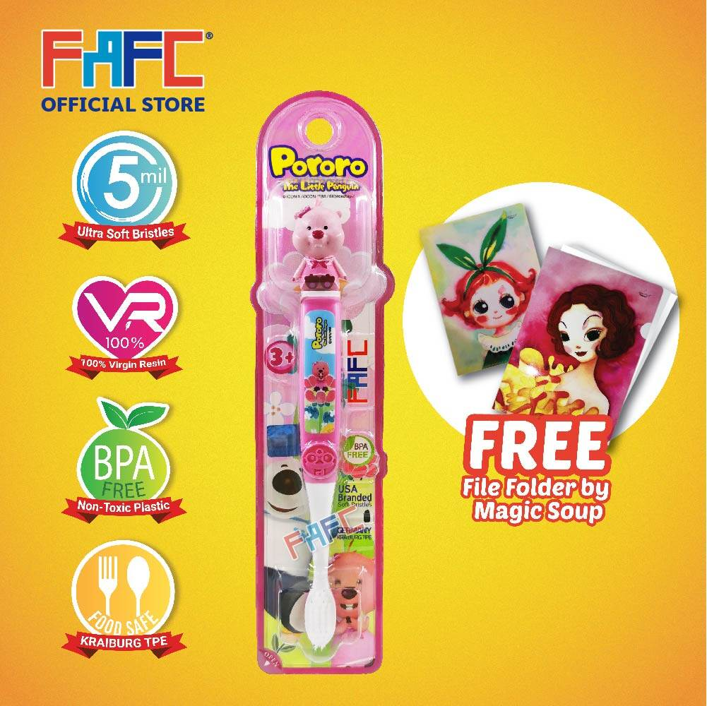 Loopy - (1 Pcs) FAFC Pororo Figurine Kids Toothbrush