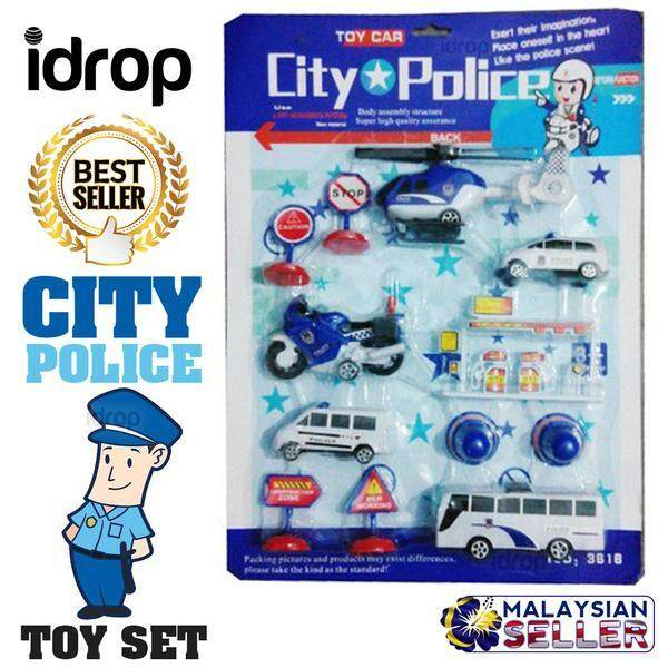 idrop TOY CAR - City Police Miniature Toys Set -