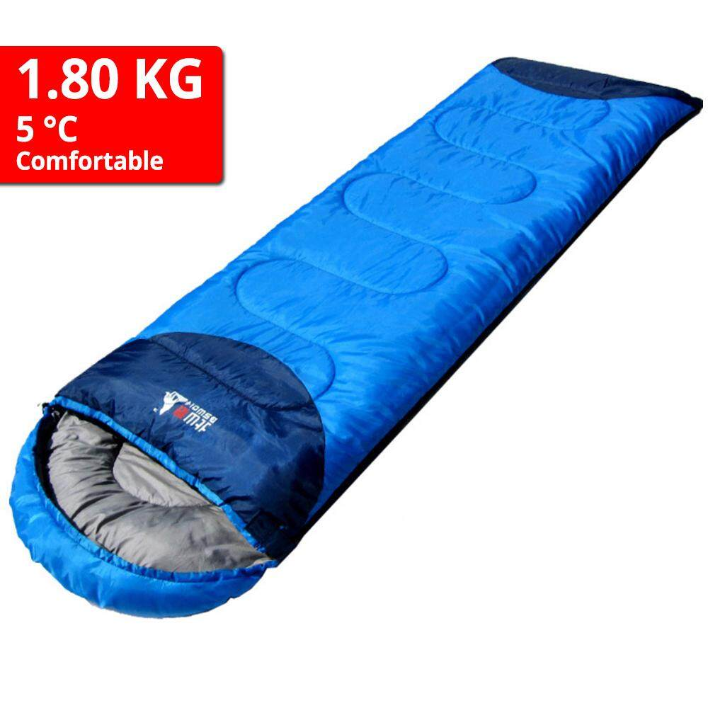 BSWolf High Quality Sleeping Bag Thick Cotton Outdoor Ultralight Camping Hiking Travel Hooded Bed -1.80kg - MI4182