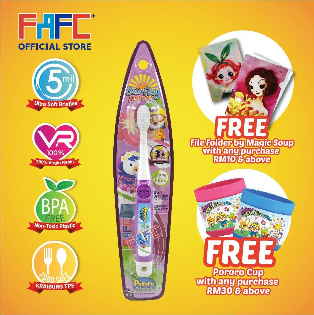 Petty - (1 Pcs) FAFC Pororo Hook Kids Toothbrush