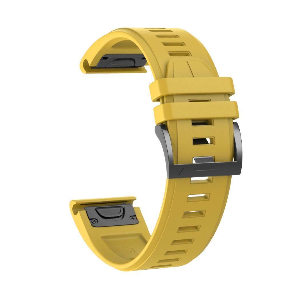 Dotzconnect 22MM Easy Fit Replacement Silicone Soft QuickFit Bands Strap For Garmin Fenix 5 / Fenix 5 Plus / Forerunner 935 / Quatix 5 / Instinct GPS Sport Watch