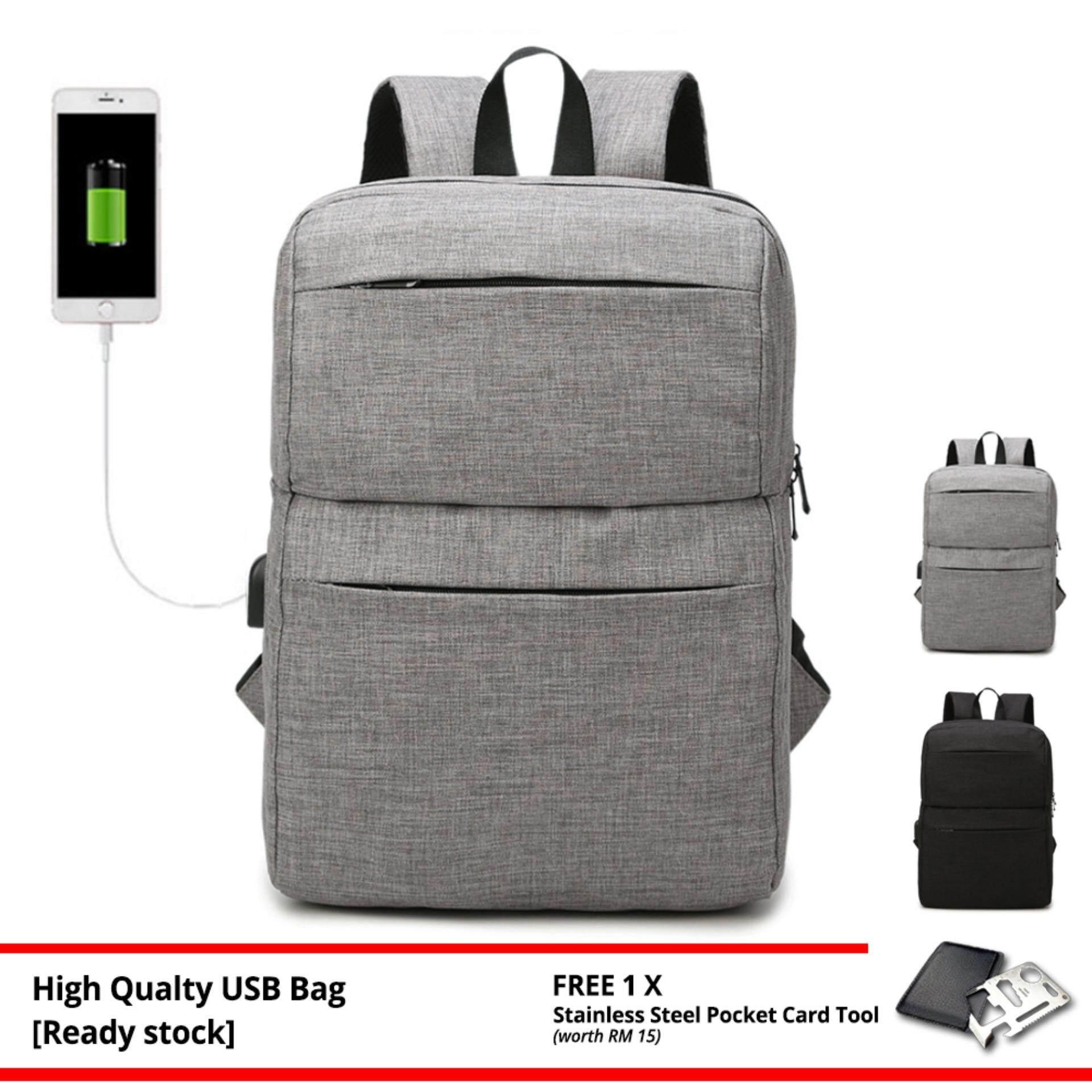 Durable Multipurpose USB Charging Backpack Design Trendy Travel Laptop Bag 138 MI1382