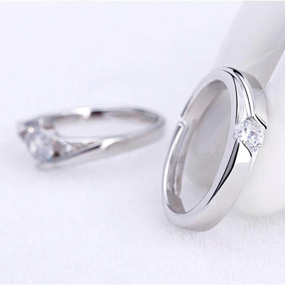 MICOLE RF3003 Lovers Couple Rings Adjustable Ring Cincin