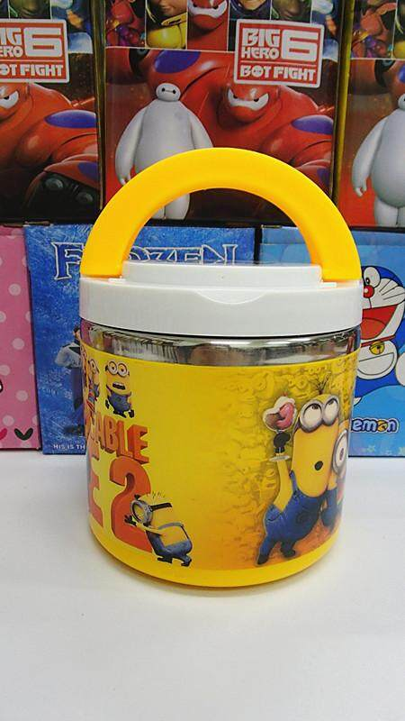 [Ready Stock] 1 Layer Stainless Steel Cartoon Lunch Box (BGJAYA)-Minions