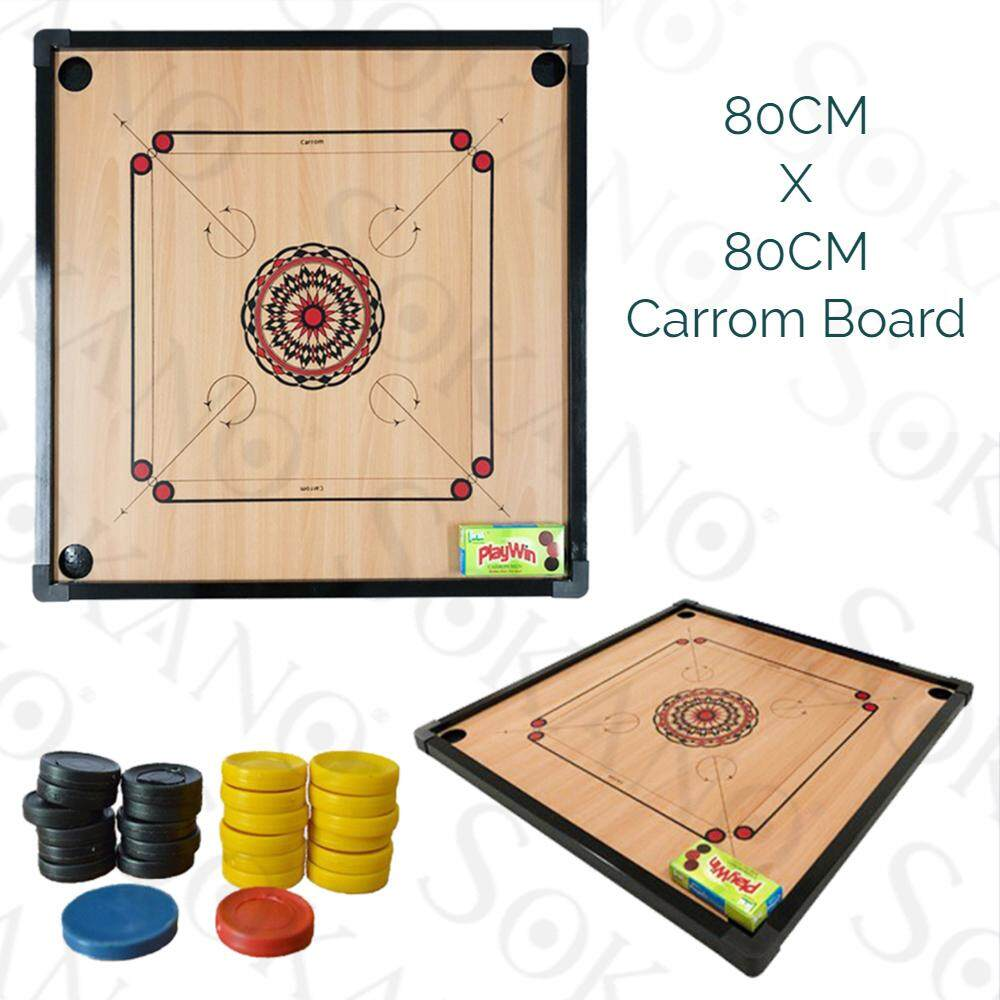 Sokano G-90 Carrom Board Set With Carrom / Papan Kayu Carrom (80cm x 80cm)