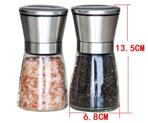 Twin Pack Stainless Steel  Pepper / Spices Grinder