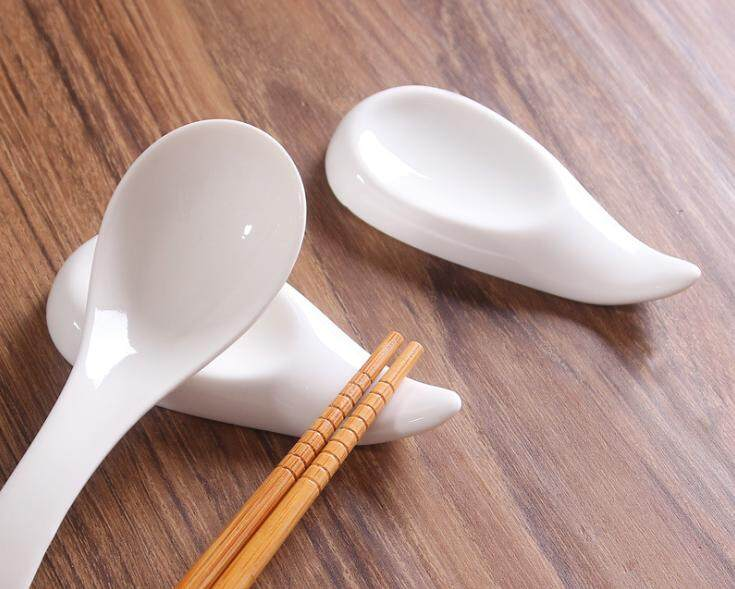 10 units Ceramic Chopstick and Spoon Holder / Rest - Duck Tongue