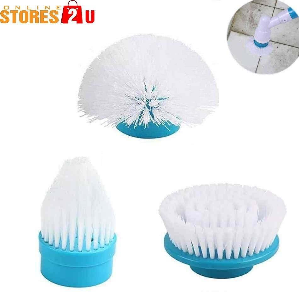 [Stores2u] Set of 3 Replacement Heads Refill For Multi-Function Rechargeable Electric Brush Power Scrubber Turbo Scrub