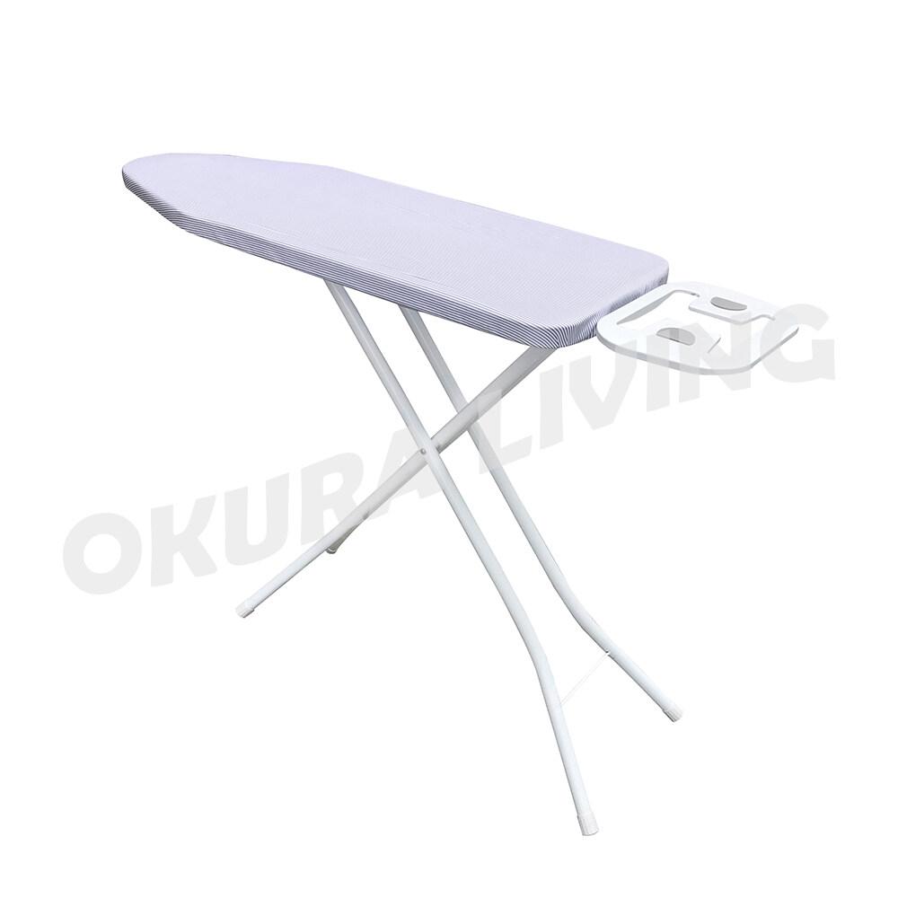Okura Mesh Top Ironing Board 36  x 12  ( 90cm x 30cm ) Cotton Fabric Iron Foldable Ironing Board Adjustable Height