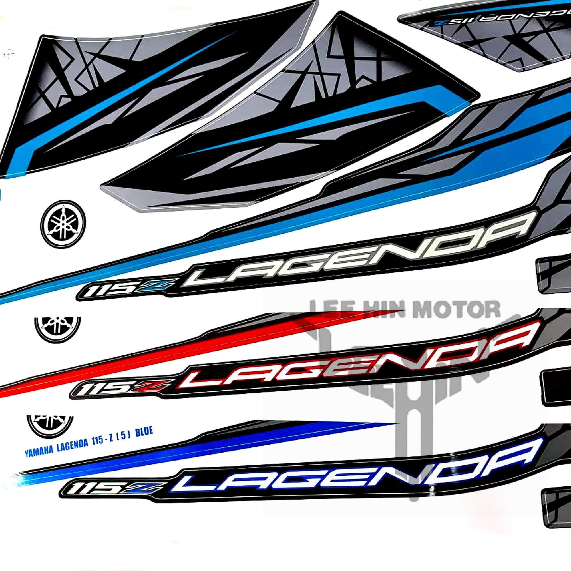 Grade AAA Yamaha Lagenda 115z Body Sticker / Body Stripe, Blue