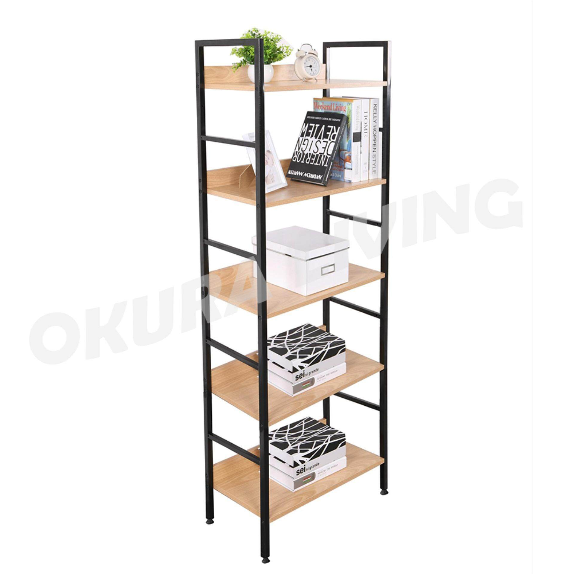 OKURA 5 Tier Multipurpose Book Shelf Home Office