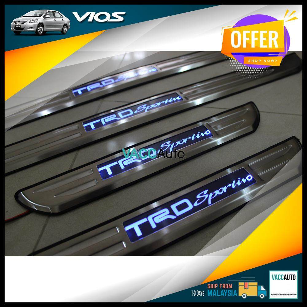 Toyota Vios 2007 - 2012 TRD Sportivo LED Door Step / Scuff Plate Vacc Auto Car Styling Accessories Exterior Car Body Trim