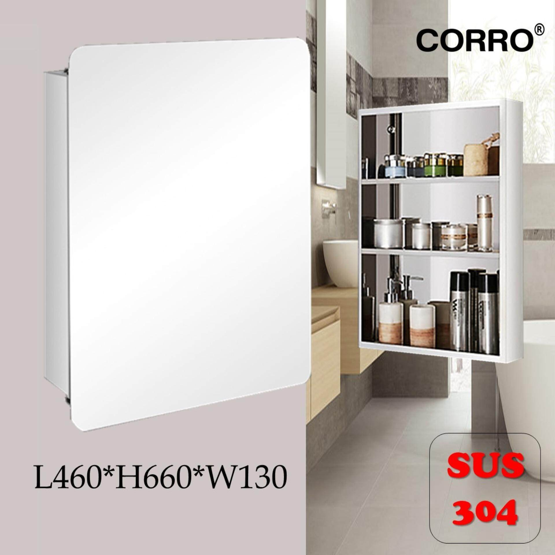 CORRO SUS304 Stainless Steel Bathroom Mirror Cabinet