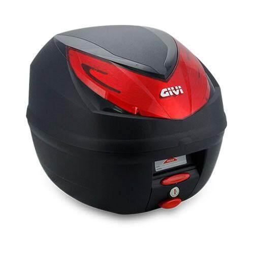 Original GIVI E250N Wildcat 25 Litre Monolokc Topcase Black with Red Reflector Box