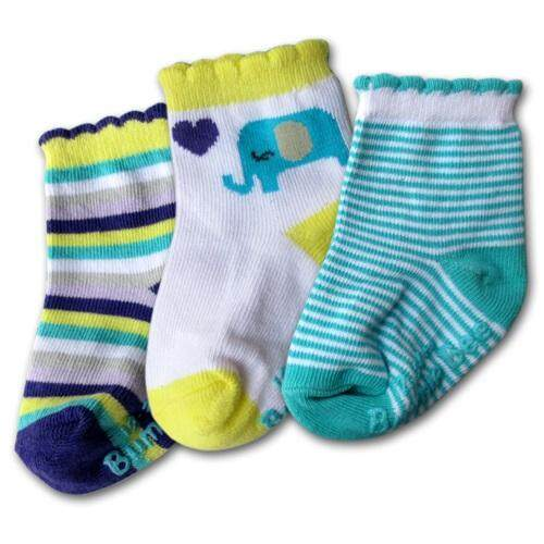 Bumble Bee 3 Pair Pack Blue Elephant Socks