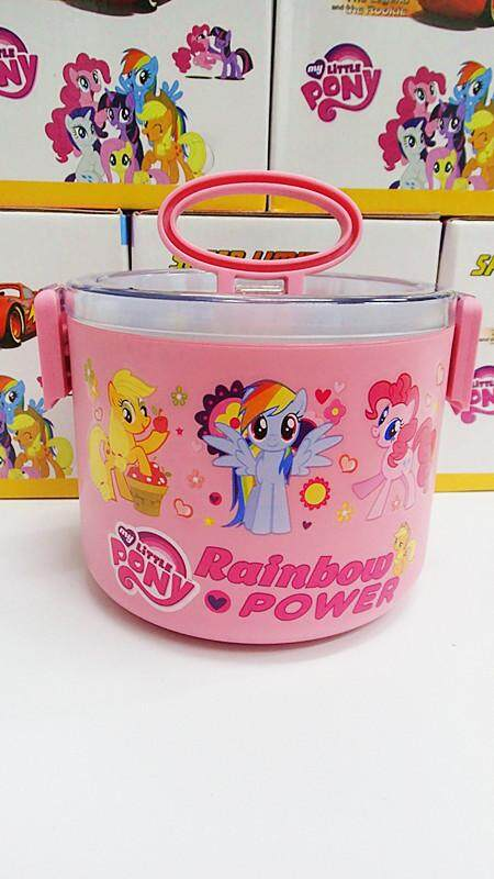 [Ready Stock] 1 Layer Stainless Steel Cartoon Lunch Box (BGJAYA)-My Little Pony