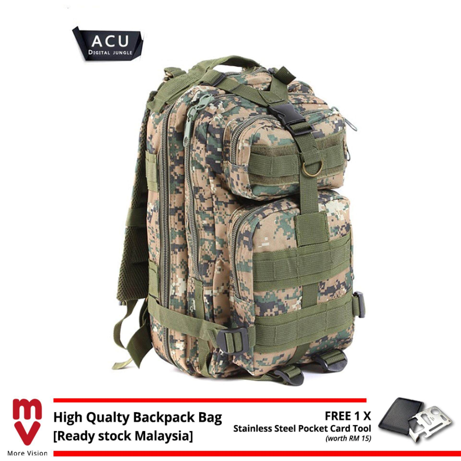 [Attractive Free Gift!] 25L 3P Military Army Tactical Camping Hiking Backpack Bag - MI0113