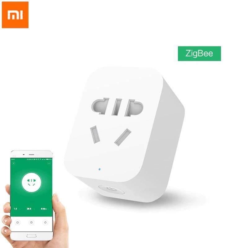 [CNY 2020] Original Xiaomi Mi Smart WiFi Socket (ZigBee Edition) APP Remote Control Timing Plug for TV Lamp Electrical Appliances - White