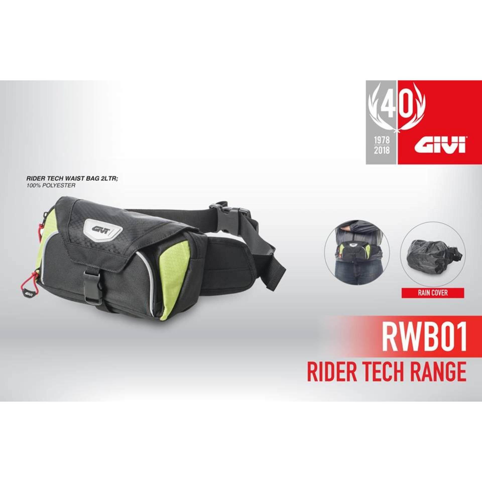 Original Givi Soft Bag RWB01 Rider Tech Waist Bag ( 2 Litre )