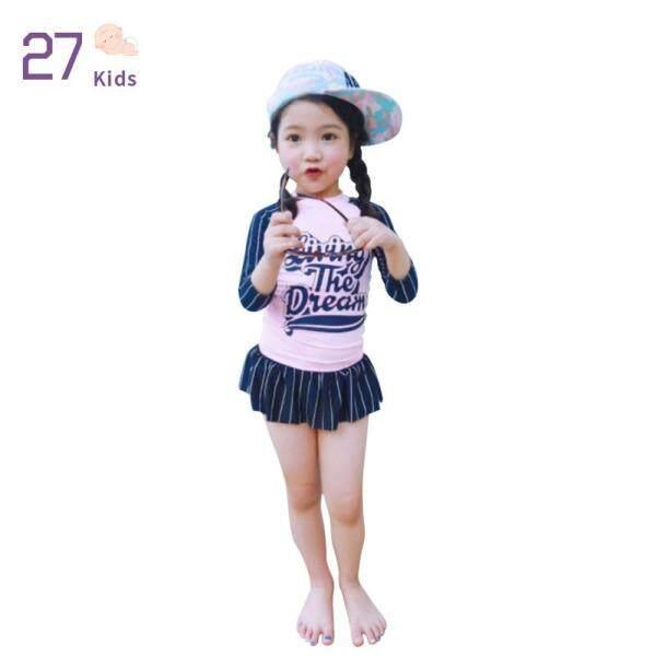 Giá bán 27 Đồ Bơi Bé Gái Trẻ Em Đồ Bơi Dài Tay Chống Nắng Dễ Thương Cho Trẻ Em + Bộ Quần Short Kiểu Váy Quần Áo Trẻ Em