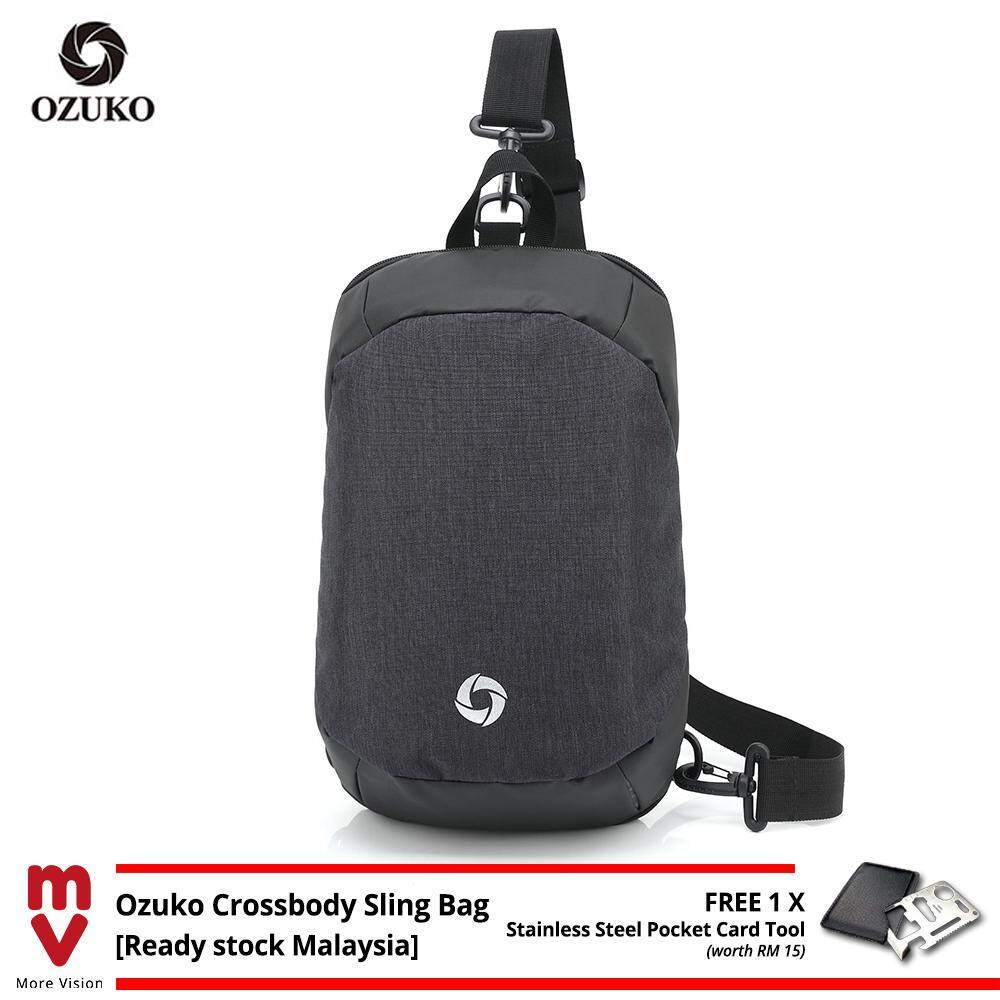 OZUKO Sling Bag Crossbody Chest Bag Backpack Casual New Multifunction Shoulder Beg Waterproof MI5541