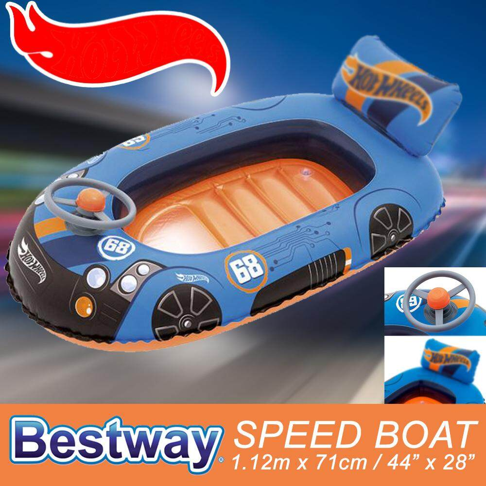SOKANO Bestway Pink B.Girl Blue Hot Car Inflatable Toddler Baby Kid Swim Ring Float Swimming Pool Floating Boat Toys for boys
