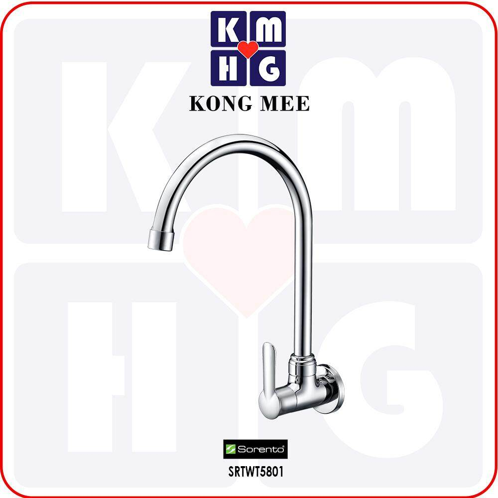 Sorento Italy - Wave 5800 Series Wall Mounted Sink Tap (SRTWT5801) High Quality Kitchen Stick To Wall Kitchen Top Counter Restaurant Home Wash Dishes Water Soap Faucet Clean Pipe Food Cook Premium Modern Luxury Long Lasting