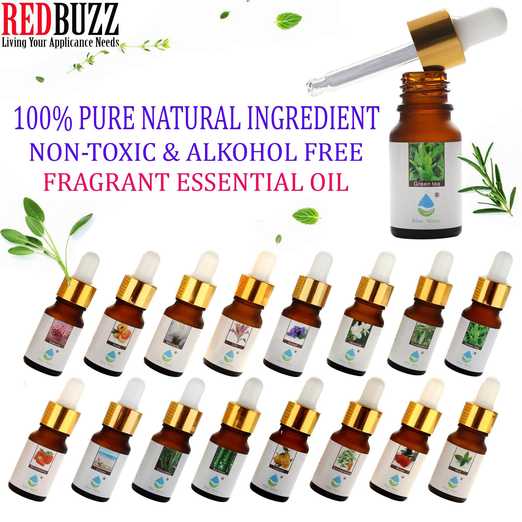 REDBUZZ Pure Aroma Oil Concentrate / Essential Oil / Aromatherapy 10ml - 100% Pure Natural Ingredient